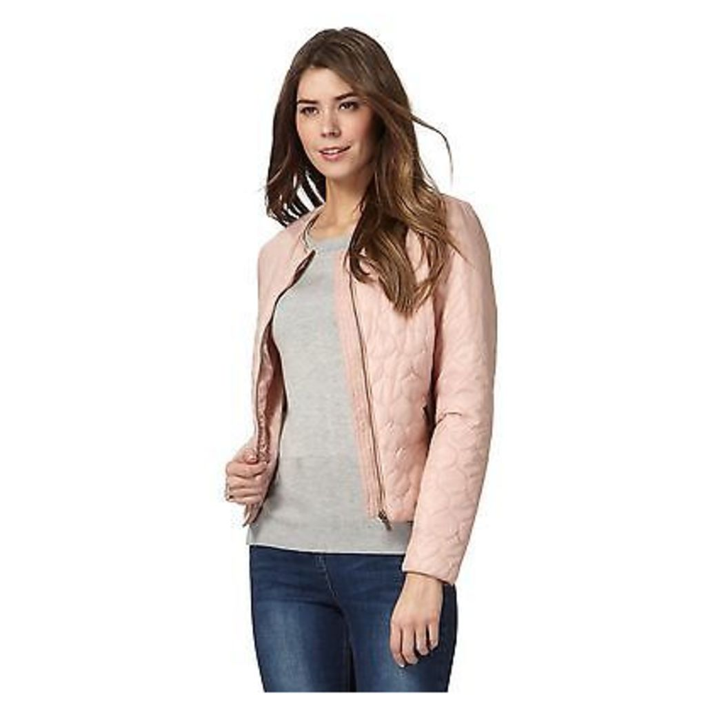 The Collection Womens Light Pink Quilted Bomber Jacket From Debenhams
