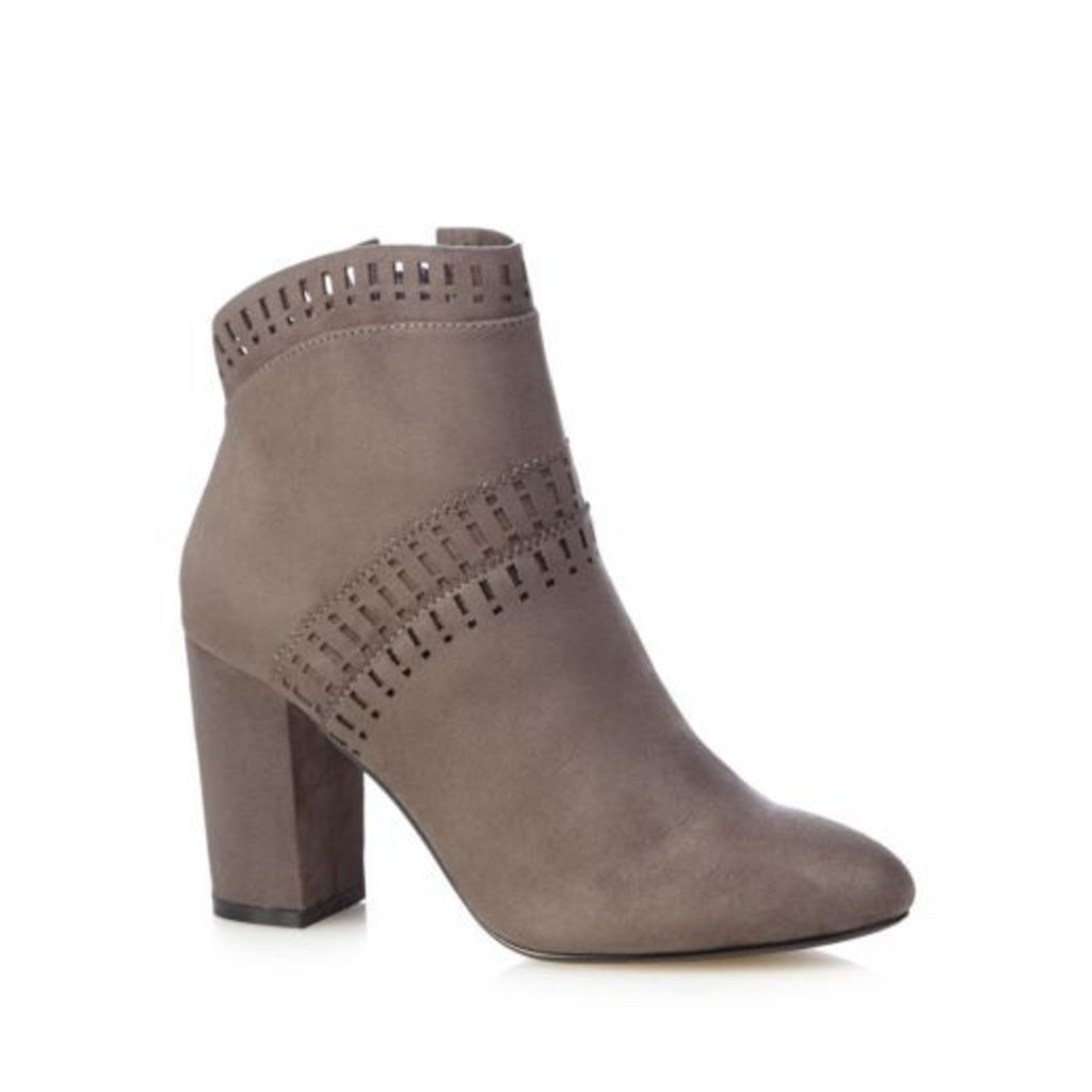 Nine By Savannah Miller Womens Grey Cut-Out High Boots From Debenhams 5