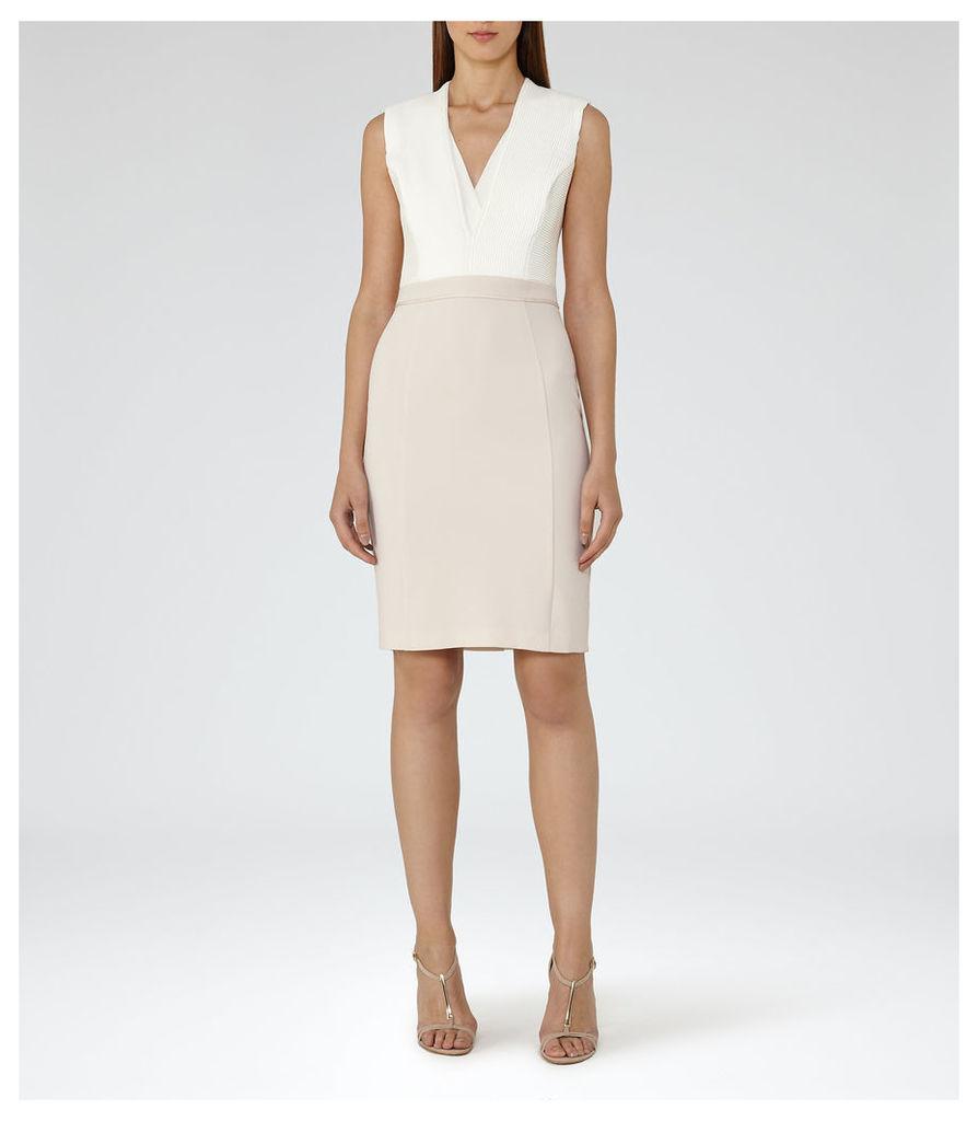 REISS Lourdes - Womens Block-colour Dress in White