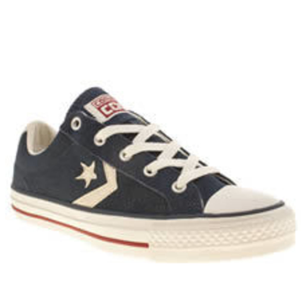 Converse Navy & Stone Star Player Ev Oxford Suede Ii Trainers
