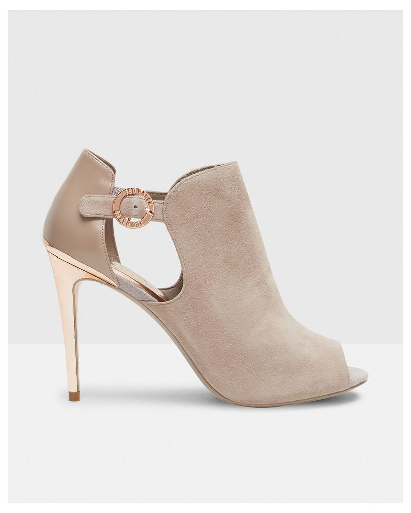 Ted Baker Suede cut-out heeled boots Mink