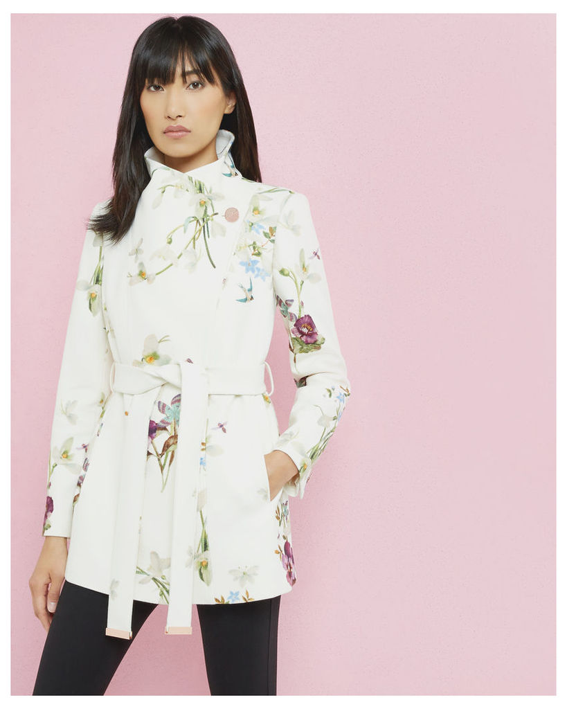 Ted Baker Spring meadow short wrap coat Ivory