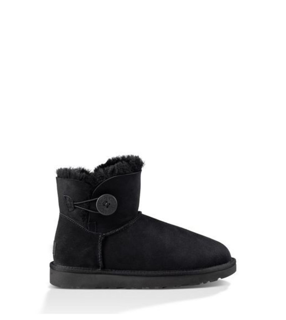 UGG Mini Bailey Button Ii Womens Classic Boots Black 6