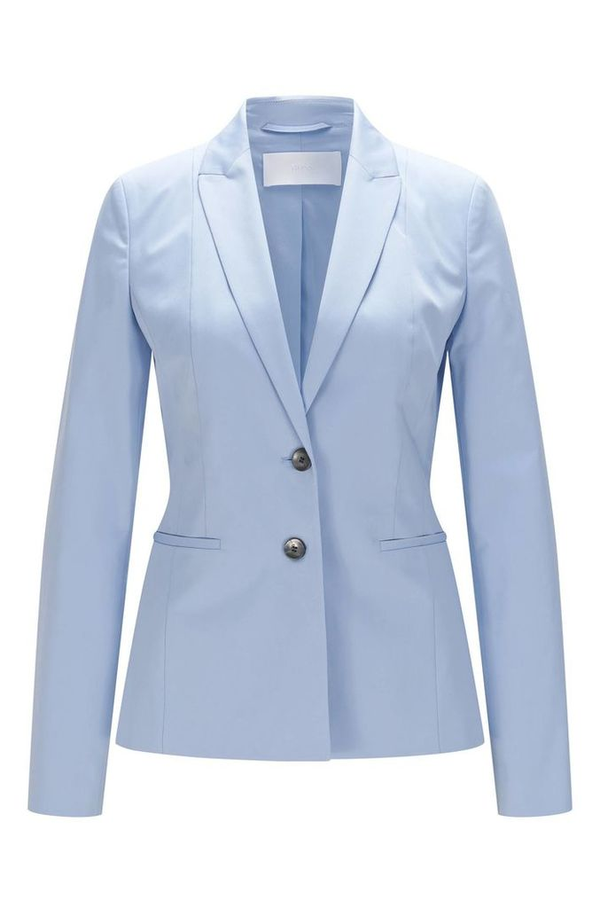 Fitted blazer in stretch cotton: `Jelany`