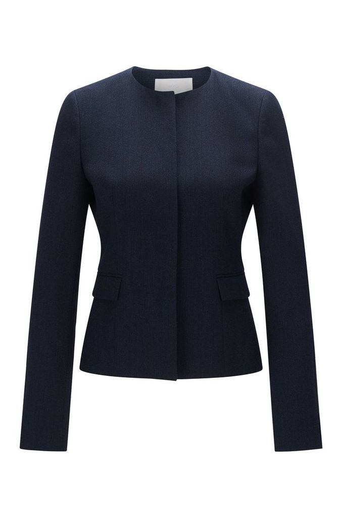 Slim-fit blazer in textured stretch new wool: `Jalesana1`