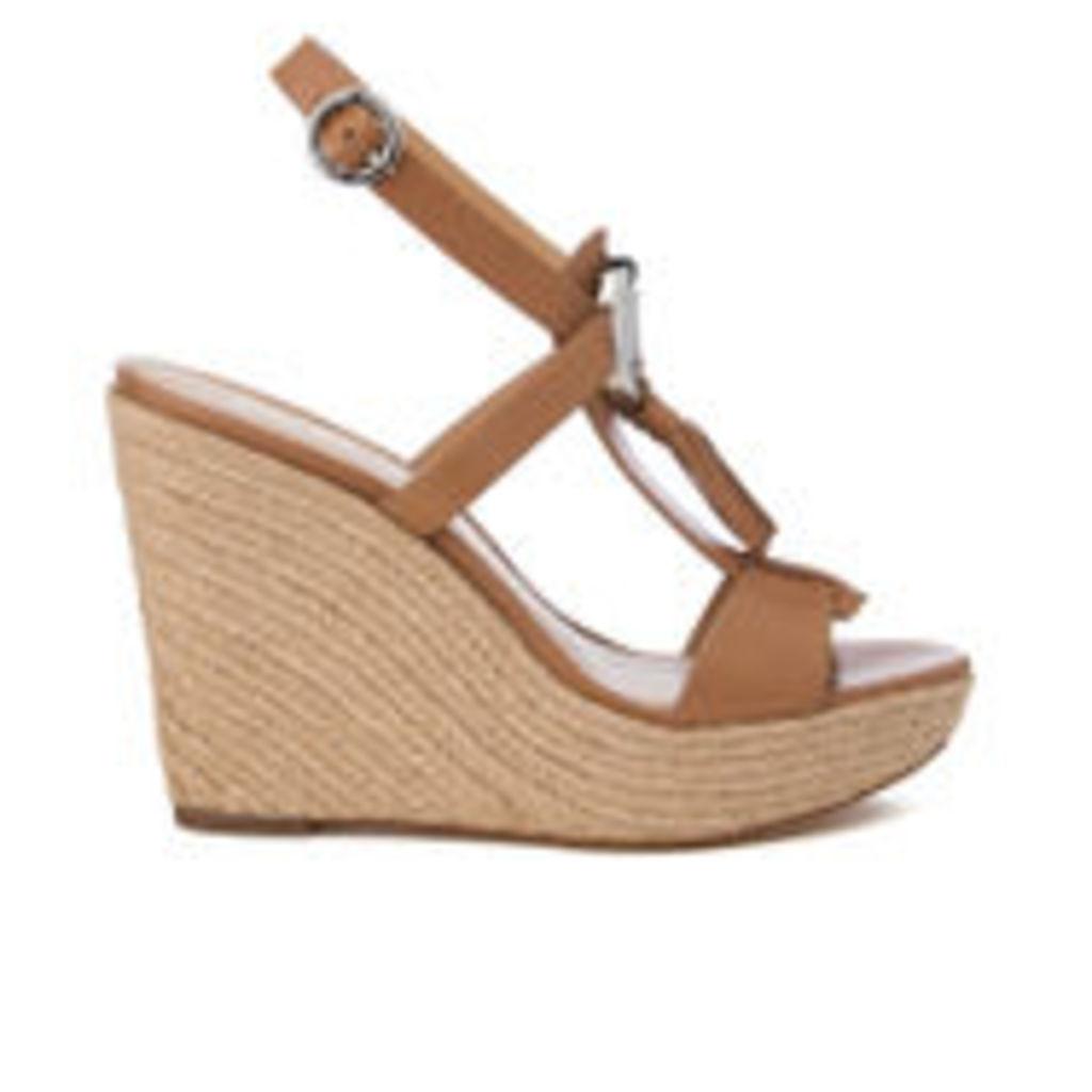 MICHAEL MICHAEL KORS Women's Darien Wedged Sandals - Cashew - US 7.5/UK 5