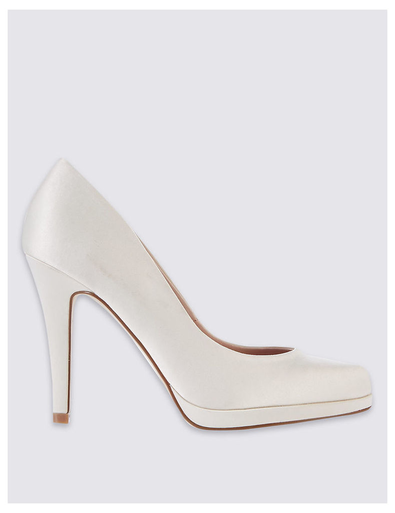 M&S Collection Satin Platform Court Shoes with Insolia