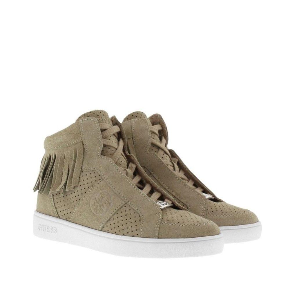 Guess Sneakers - Gharam Sneaker Perforated Suede Grey - in grey - Sneakers for ladies