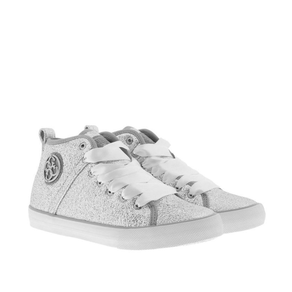 Guess Sneakers - Joel Sneaker Laminated Eco Leather Silver - in silver - Sneakers for ladies