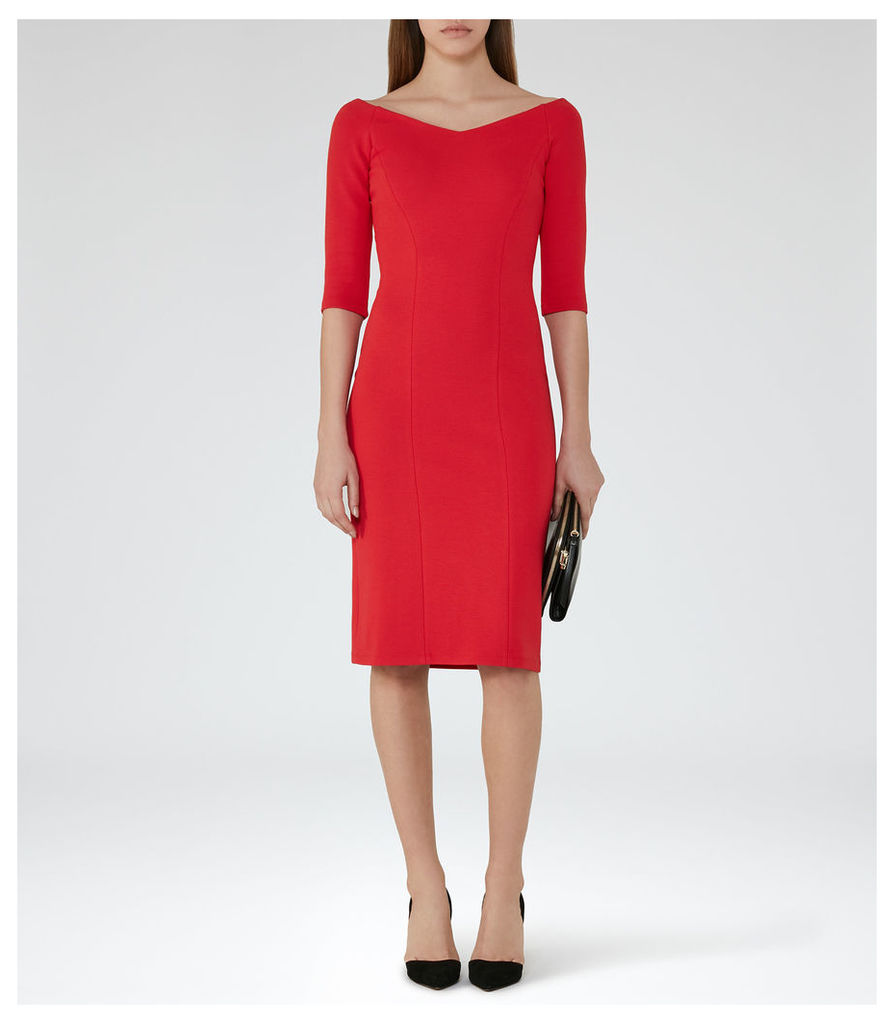 REISS Aimee - Womens Off-the-shoulder Dress in Red