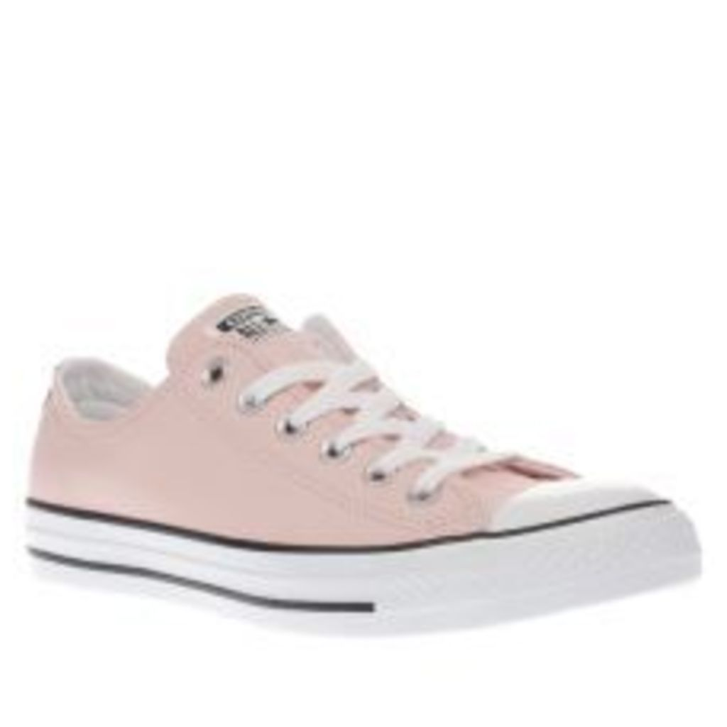 Converse Pale Pink All Star Leather Ox Trainers