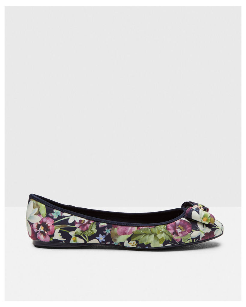 Ted Baker Printed bow detail pumps Navy