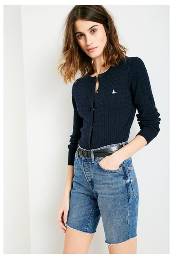 HOLYWELL CABLE CARDIGAN NAVY