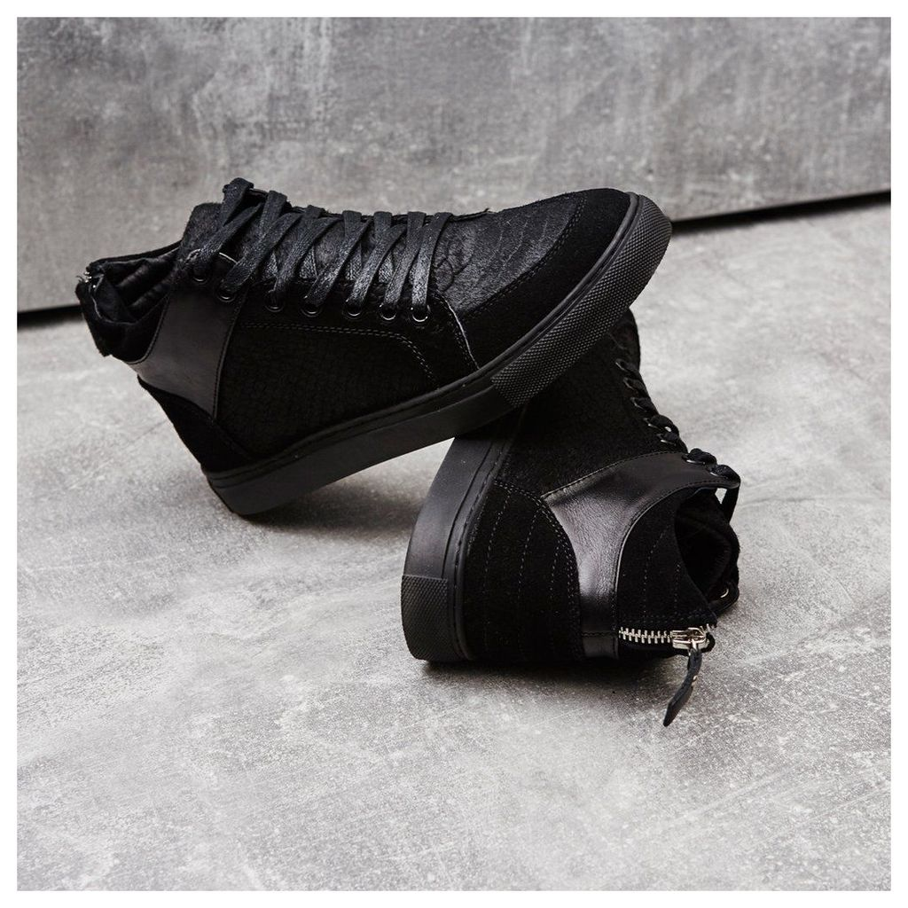 Maniere De Voir; Embossed Pony Fur Virtue Sneaker