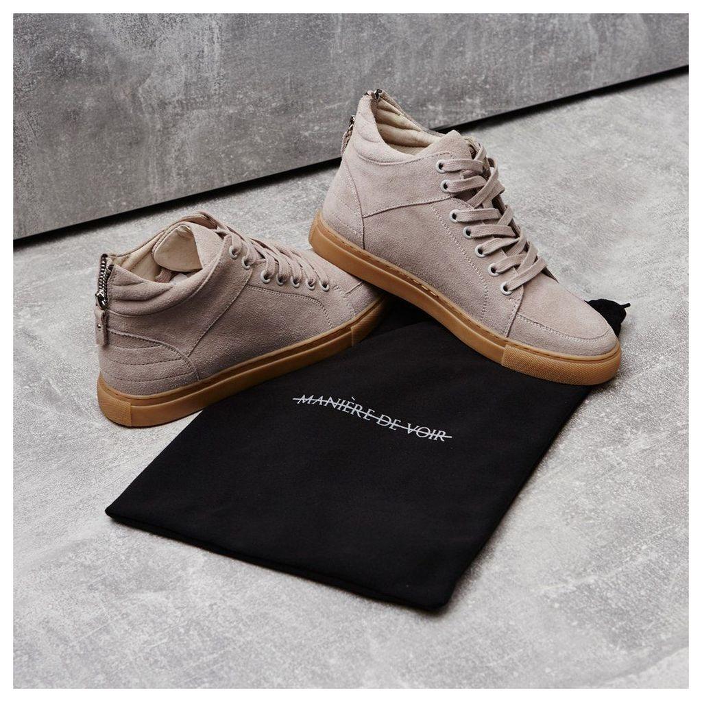 Maniere De Voir; Virtue Suede Sneaker - Beige