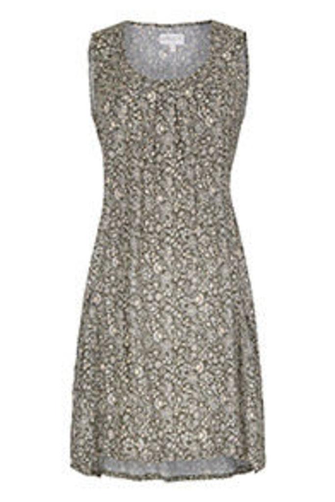 Khaki & Cream Sarasa Ditsy Print Tunic Dress