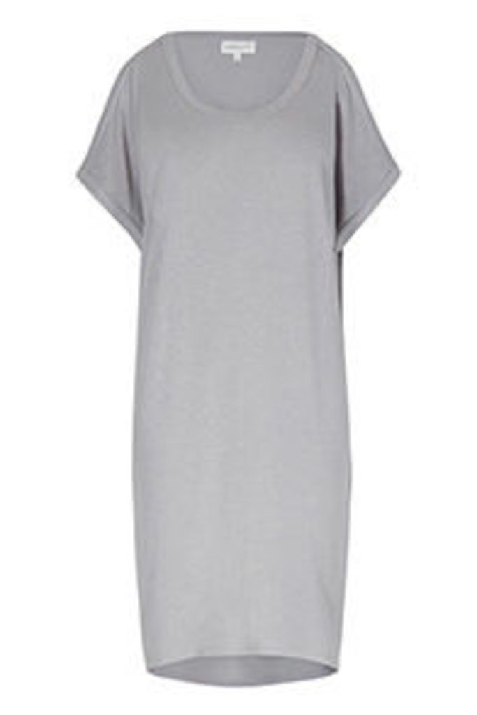Grey Cold Shoulder Tunic Dress