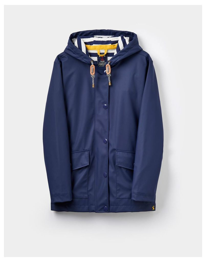 French Navy 124157 Womens Rubber Coated Jacket  Size 14 | Joules UK