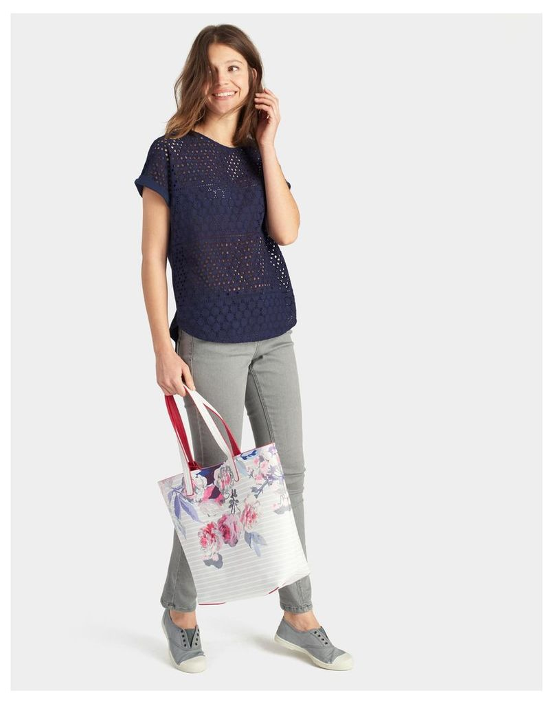 Grey Stripe Revery print Tote Bag  Size One Size | Joules UK