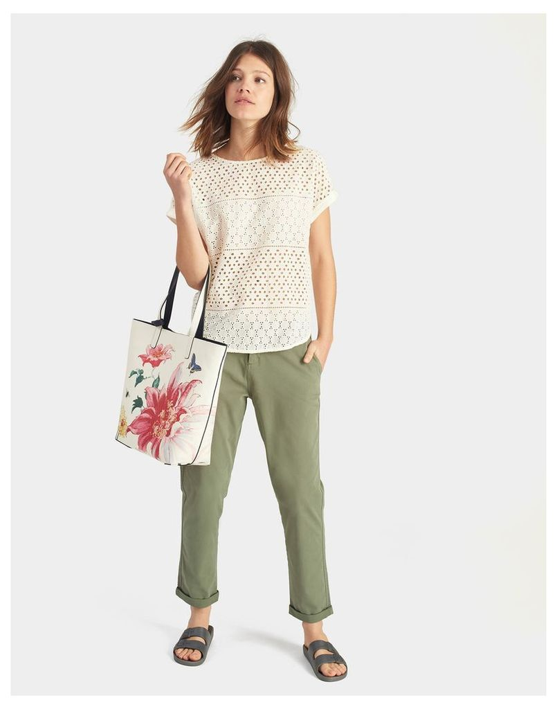 Cream Clematis Revery print Tote Bag  Size One Size | Joules UK