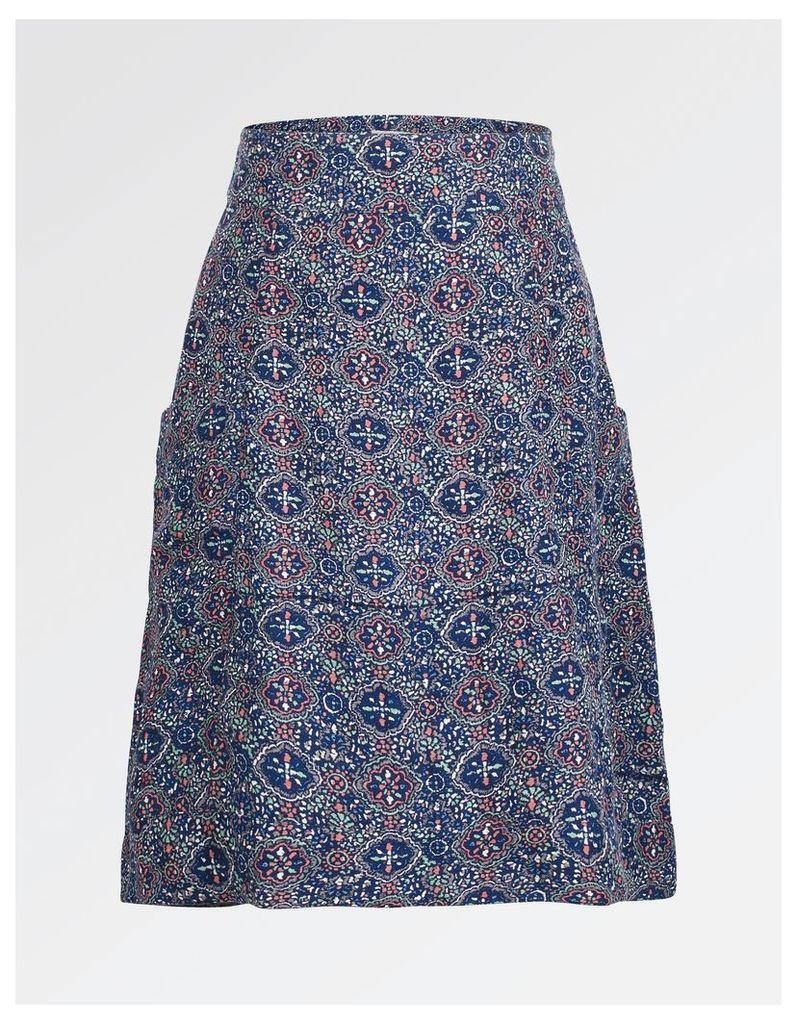 Fat Face Casey Jewel Geo A-Line Skirt