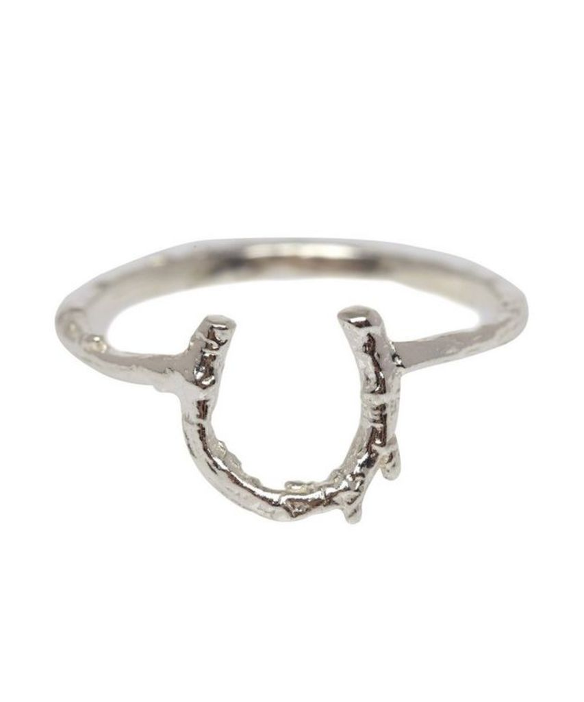 Silver Baby Horseshoe Ring