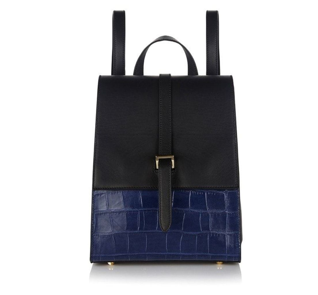 Azzurra Backpack Bag Black & Midnight Croc