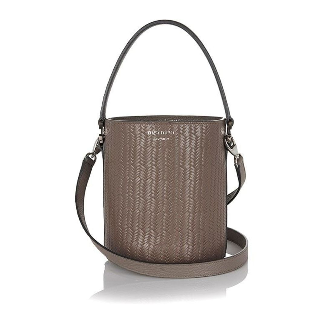 Santina Bucket Bag Elephant Grey Woven