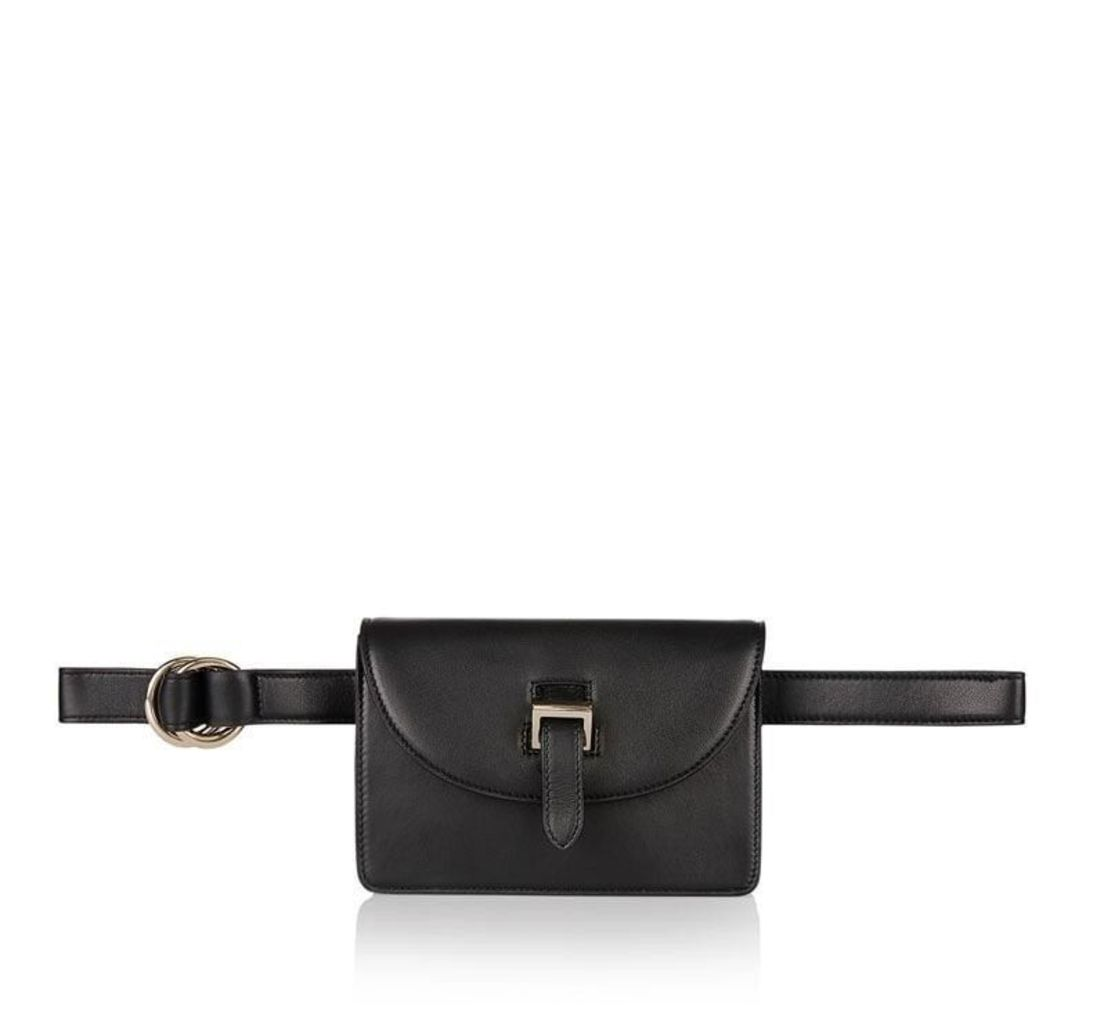Bum Bag Black Leather
