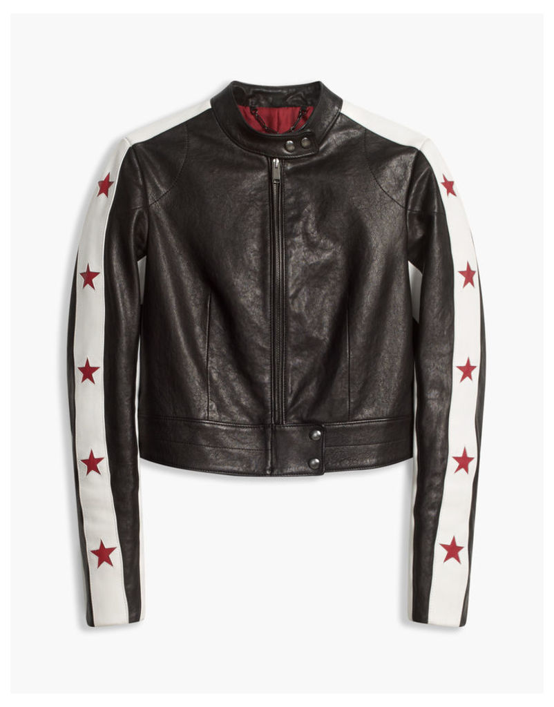 Belstaff Staithes Biker Jacket Black/White