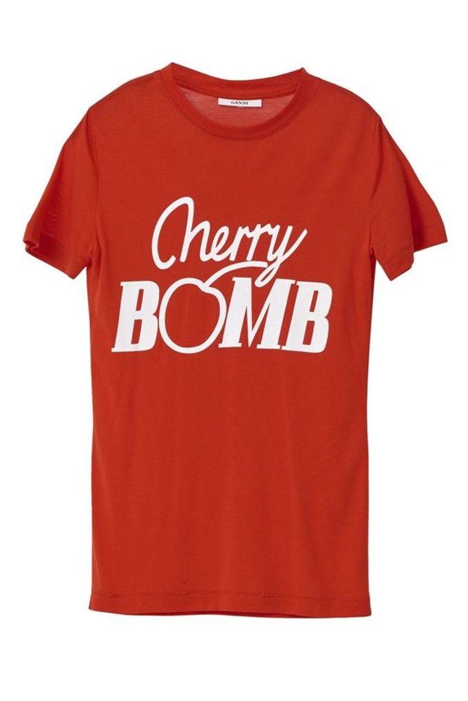 Linfield Lyocell T shirt Cherry Bomb