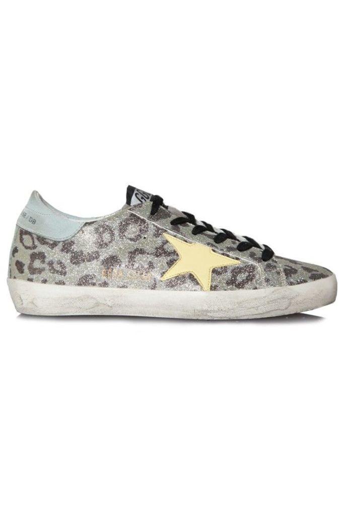 Sneakers Superstar Glitter Leopard