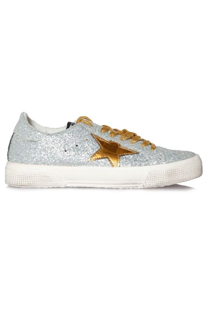 Sneakers May Silver Mat Gold Star