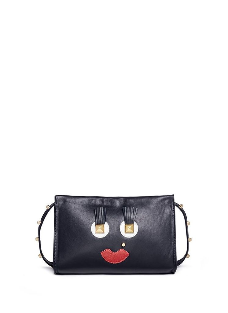 'Box Clutch Midi 02 Happy' leather bag