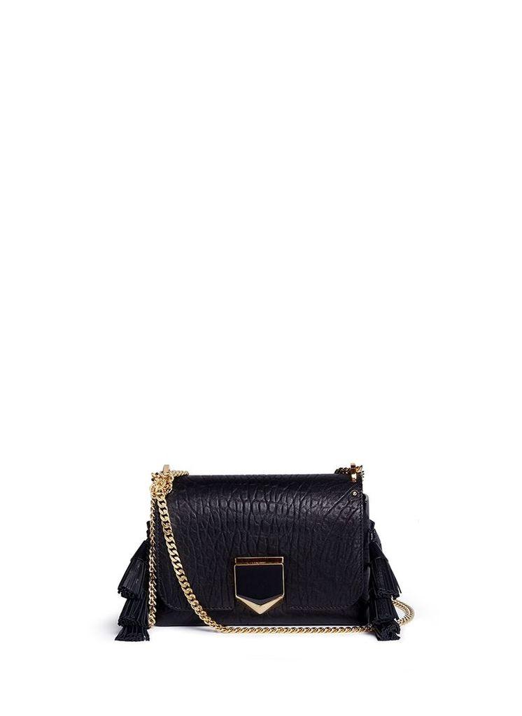 'Lockett Petite' tassel crinkled leather shoulder bag