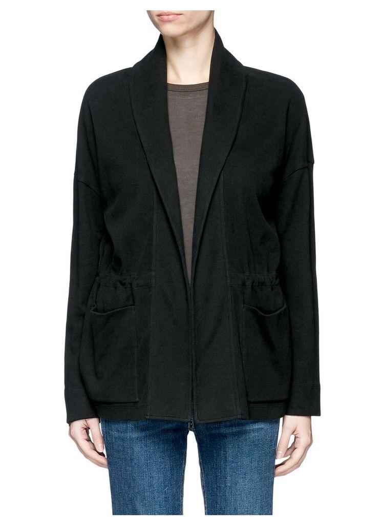 Double faced fleece jersey jacket