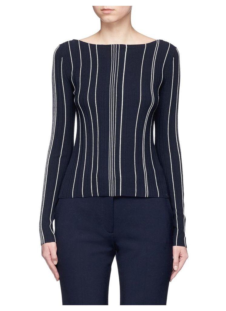 'Hankson' stripe rib knit sweater