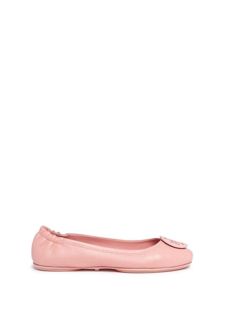'Minnie Travel' leather ballet flats