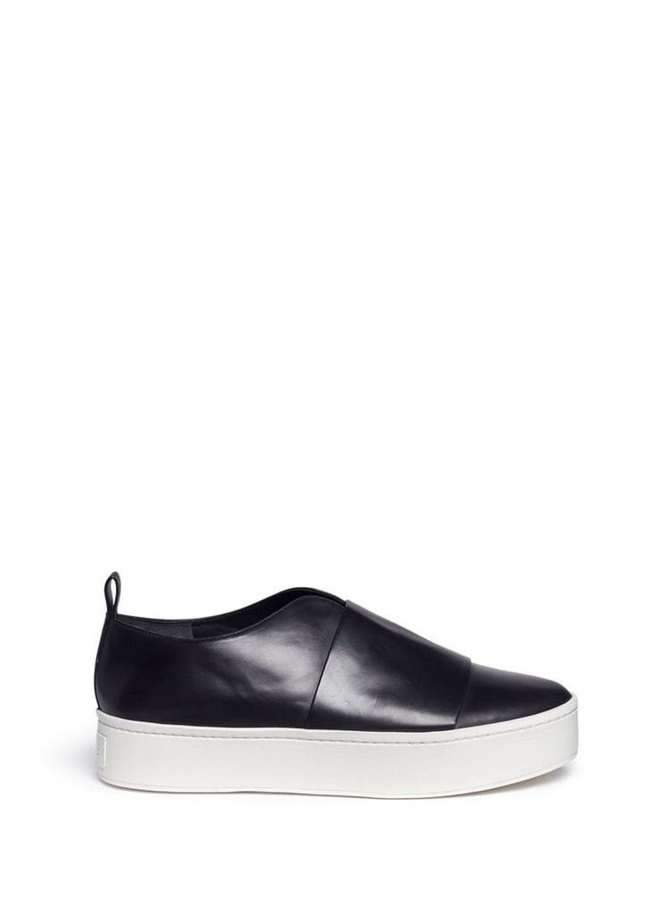 'Wallace' leather platform sneakers