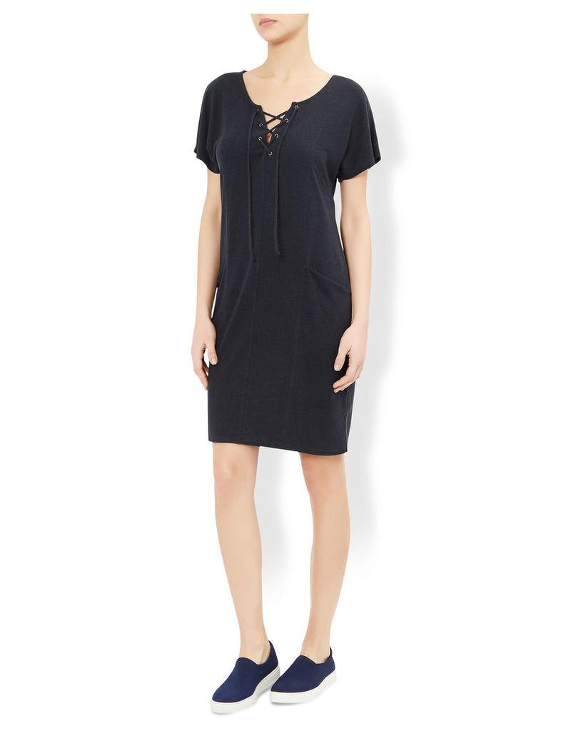 Claudia Linen Tie Front Dress