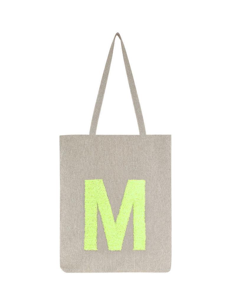 Neon Letter Fold Up Shopper