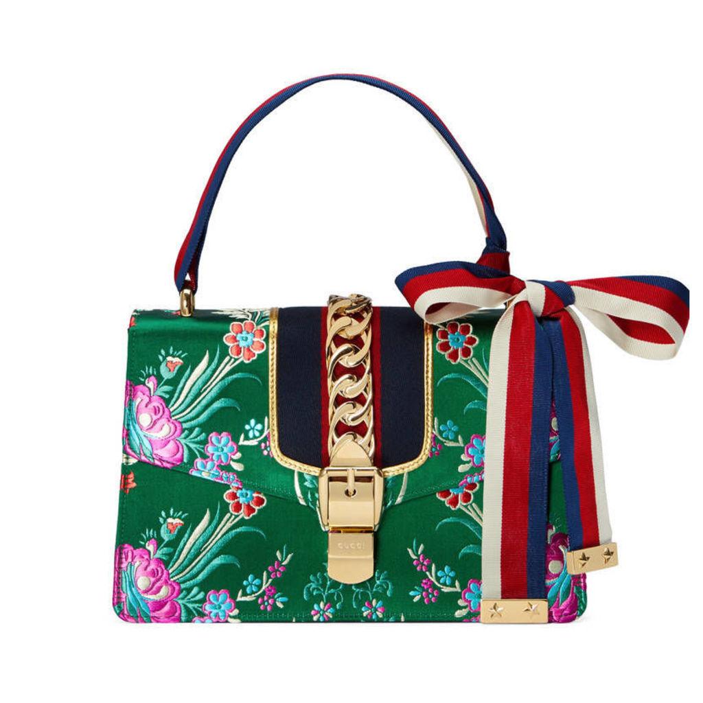 Sylvie floral jacquard shoulder bag