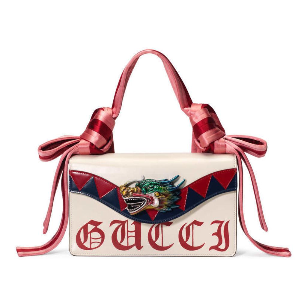 Dragon leather shoulder bag