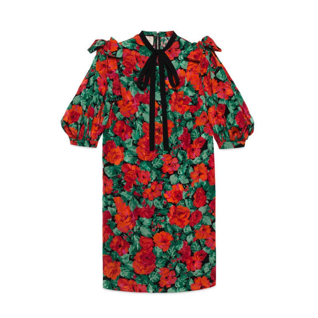 Poppy snake jacquard dress