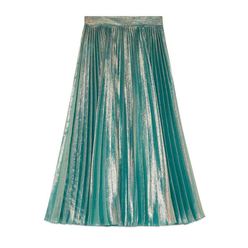 Iridescent lurex skirt