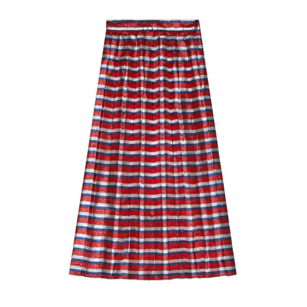 Sylvie lurex pleated skirt