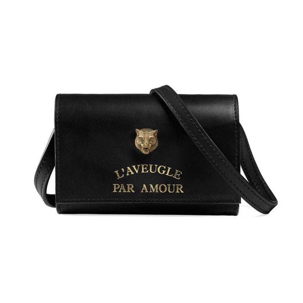 Animalier mini shoulder bag