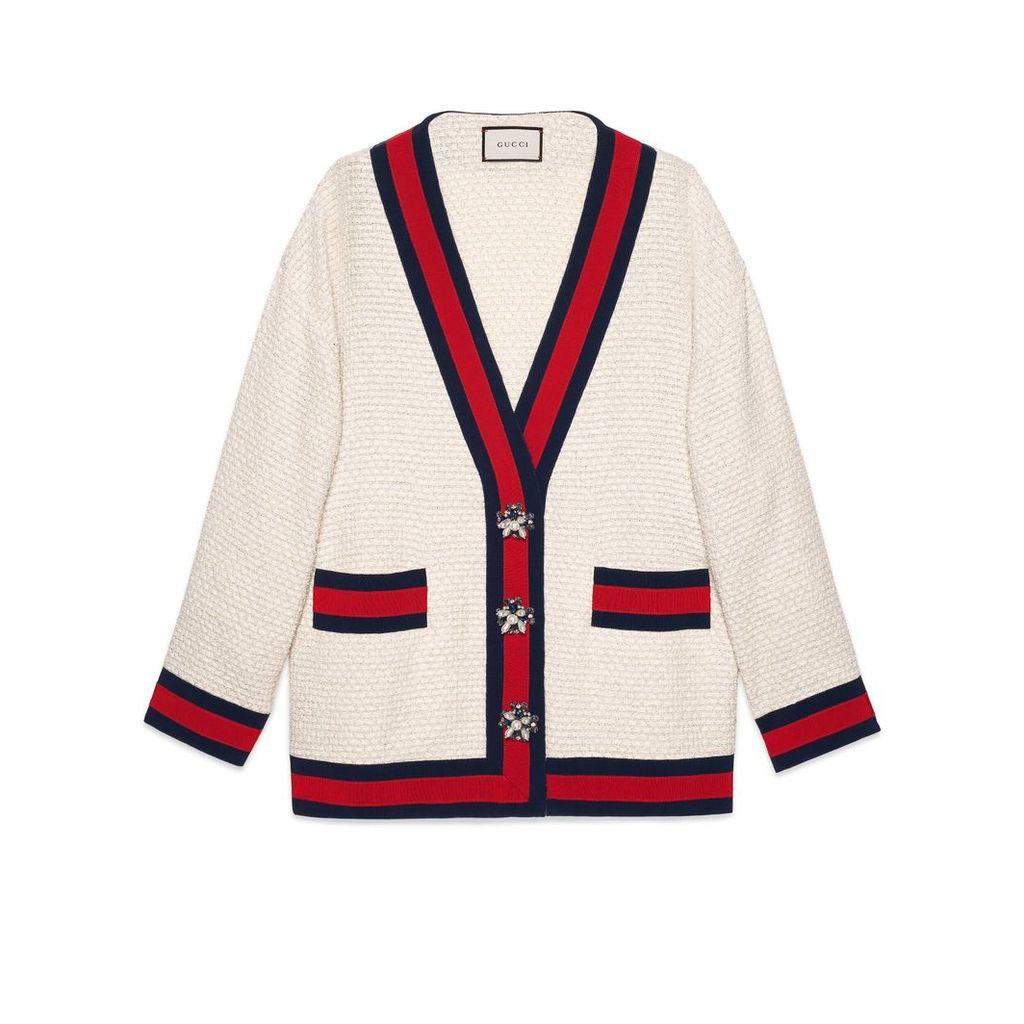Oversize tweed cardigan jacket