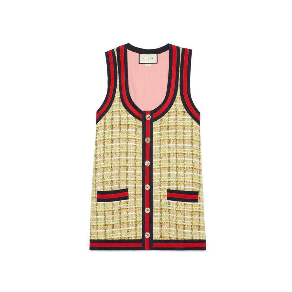 Tweed oversize vest