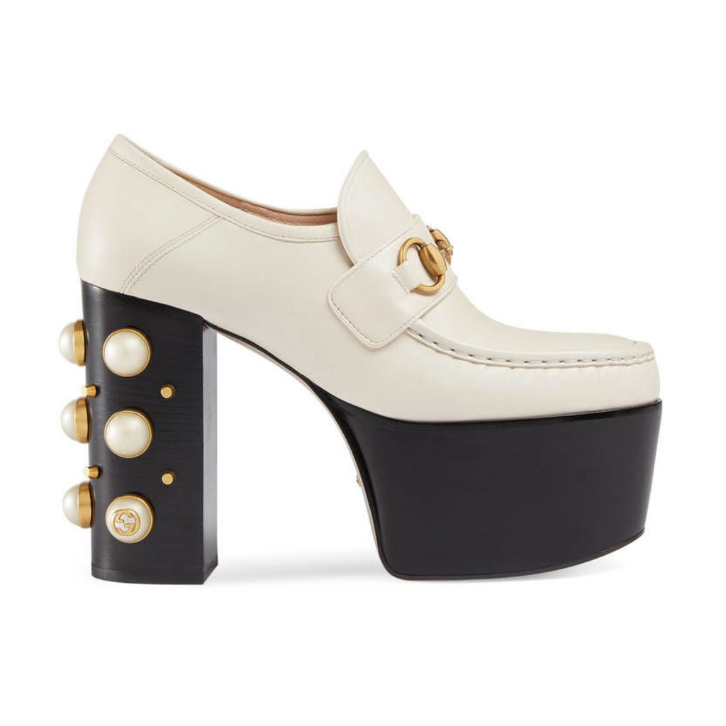 Studded leather Horsebit loafers
